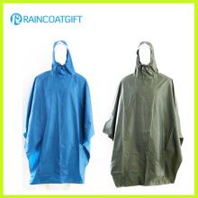 Poncho de pluie de PVC de polyester adulte Rpy-052