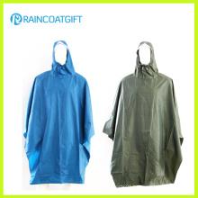 Adult Polyester PVC Rain Poncho Rpy-052