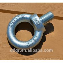 Boulons à oeil galvanisé DIN580 gréement acier forgé