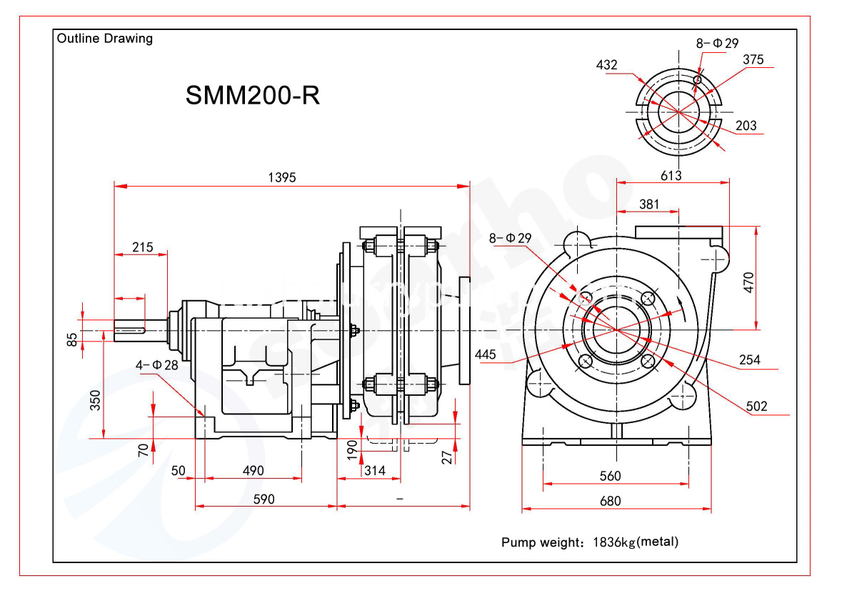 SMM200-R outline drawing