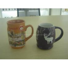Töpferwaren-Cup mit kundengebundenem Logo-Drucken