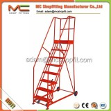 3 meter warehouse steel movable platform ladder