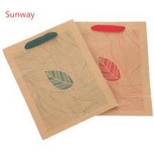 Custom printed kraft paper gift bags