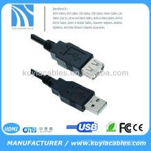 1.5m cable de extensión negro del USB velocidad de transmisión 480Mbits / sec