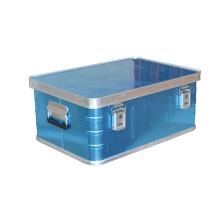 Leerer Aluminiumkasten mit EVA-Futter für die Lagerung