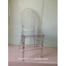 Cristal claro de la boda resina Phoenix silla