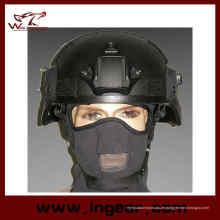 Mich 2000 Ach Militärhelm mit Nvg Mount & Seite Rail Action Version Helm schwarz