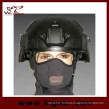 Military Mich 2000 Ach Helmet with Nvg Mount & Side Rail Action Version Helmet Black