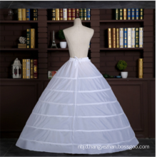 High quality 6 hoops crinoline bridal wedding lace petticoat