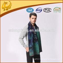 Conception personnalisée disponible écharpe en soie brossé décontracté