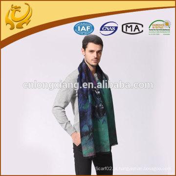 Custom design available sample casual mens escovado lenço de seda