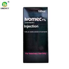 Inyección de ivermectina de medicamentos veterinarios de 100 ml