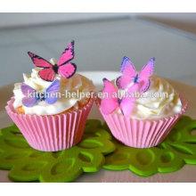 Resistente ao calor FDA Aprovado Silicone Cake Moldes de cozimento, Bolo de Silicone Cup / Cake Cupcake