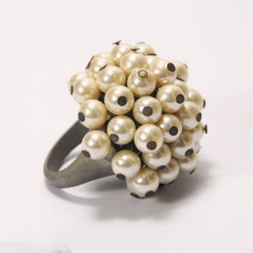 Vintage Engagement Pearl Rings