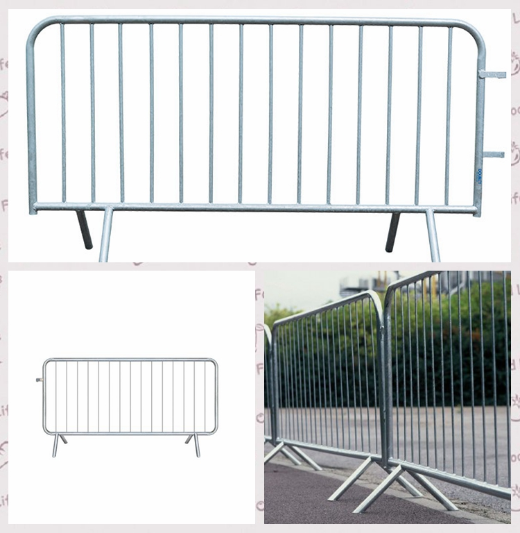 v type foot crowd control barrier