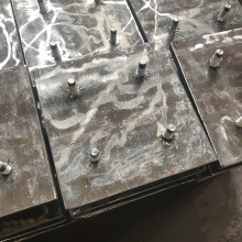 Hardfacing Wear Resistant Chute Liner with Stud Welding