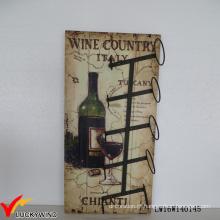 Design de parede Rack retro para garrafas de vinho