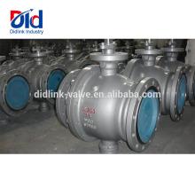 Verrouillage actionné Contrôle pneumatique 3 Commutateur de robinet à tournant sphérique fixe de sécurité en acier moulé fileté 600