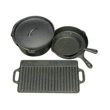 Cast Iron outdoor dutch oven with preseasoned coating