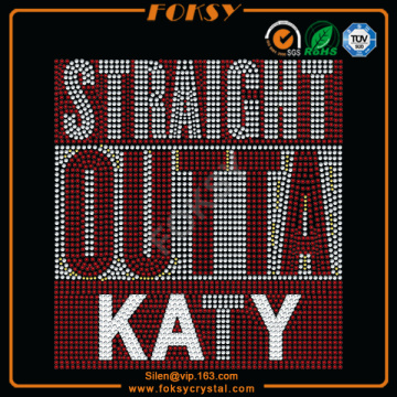 T-shirt en strass T-shirt Straight Outta Katy