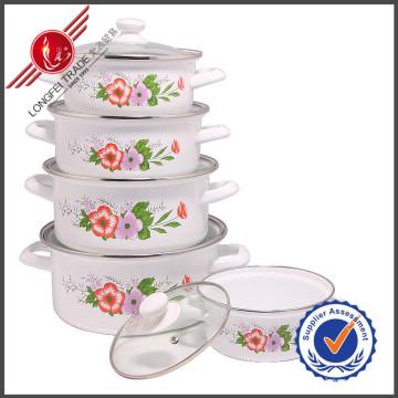 New Design Kitchenware Eco-Friendly Enamel Cookware Set