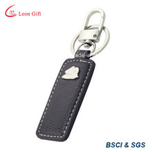 Custom PU Leather Key Ring for Advertisement