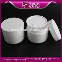 SRS amostra grátis 100g cosméticos pp jarros, branco cosmético pp 250ml recipiente