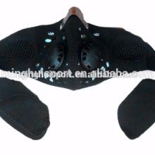 Moto antipollution Masque Visage Motocross Racing masque Hors Route Sports de Plein Air Bouche moufle avec filtre à charbon à l'intérieur
