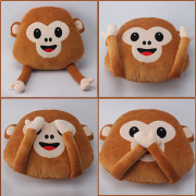 Cheap Soft Plush Monkey Pillow For Promotion
