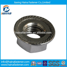 Stainless Steel Chinese manufacturer in Stock A2 hex flange nut