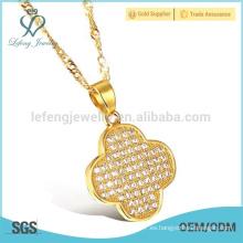Cadena fina de plata y oro con pequeño diamante, collar turco de oro
