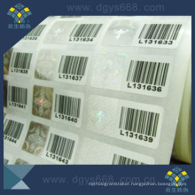 Security Barcode Hologram Sticker