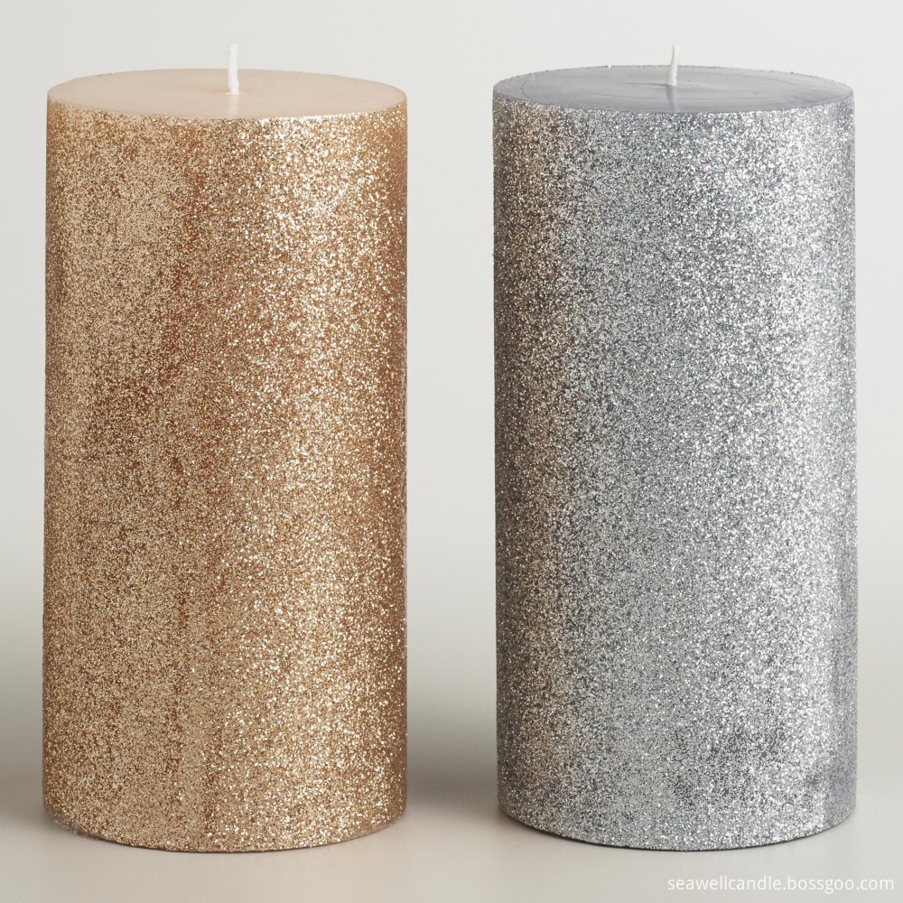Wholesale Metal Paint Column Wax Aromatherapy Candle 2