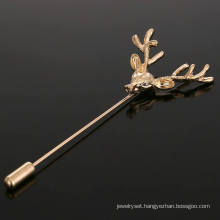 VAGULA Classical Gold Plated Antlers Women′s Brooch Pin