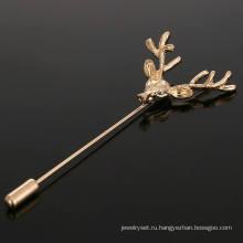 ВАГУЛА классические позолоченные рога Женская брошь pin