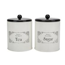 Weißer Tee Zucker Kaffeekanister für die Küche eingestellt