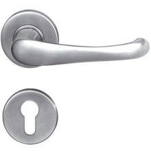 Manija de puerta de acero sólido 304 de acero inoxidable