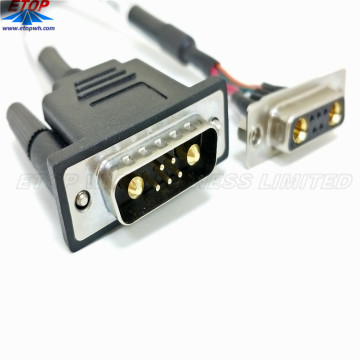 D-Sub 5Pin wanita ke Male Converter Cable Assembly