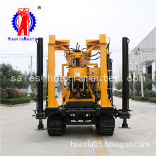 Portable crawler type drilling artesin wells 200m water well drilling machinery for sale XYD-200