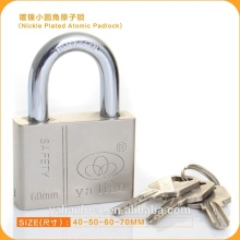 Hot Wholesale Nickle Plated Atomic Iron Padlock