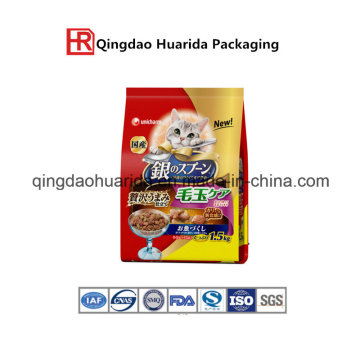 Plastic Pet Food Packaging Bag with Zipper and Clear Window