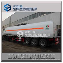 Tri Axle Carbon Steel 7 Fach Öl Tanker Anhänger / Benzin Transport Tank Trailer / 55000 Liter Kraftstofftank Semi Trailer
