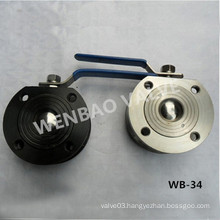 Monoblock Wafer Type Carbon Steel Ball Valve 1/2 Inch