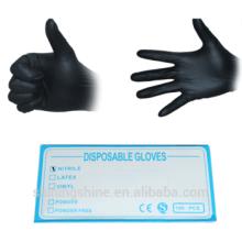 Professionelle hochwertige schwarze Latex-Einweg-Tattoo-Handschuhe
