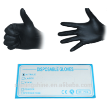 Professional High Quality Black Latex Disposable Tattoo Gloves