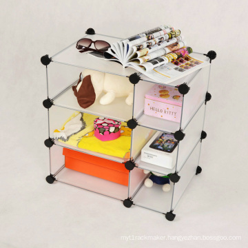 Plastic PP Panel 6 Cube Storage Shelf