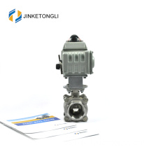 JKTLEB101 electric actuated galvanized hs code ball valve