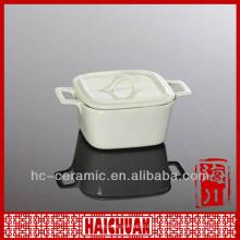 Ramekin cuadrado de cerámica, ramekin de cerámica