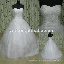 JJ2696 Qualitäts-wulstige Meerjungfrau-Spitze-langes Zug-Brautkleid-Porzellan Alibaba späteste Kleidentwürfe