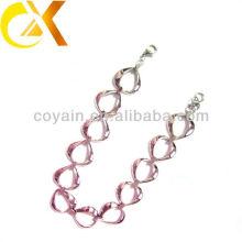 Großhandel Edelstahl Schmuck ineinander greifende Herzform Frauen Halskette